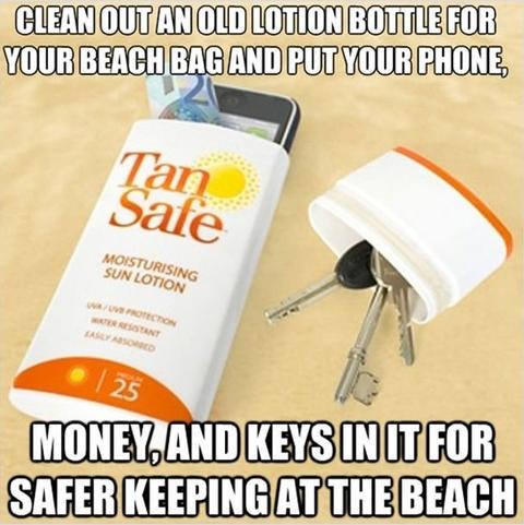 Nützliche Alltagstipps wertsachen verstauen urlaub strand