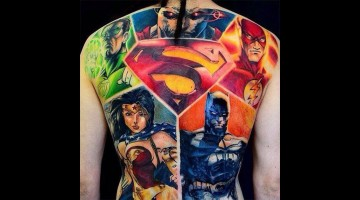 Superhelden-Tattoos