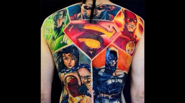Superhelden-Tattoos