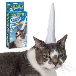 Einhorn Horn für Katzen aufblasbar