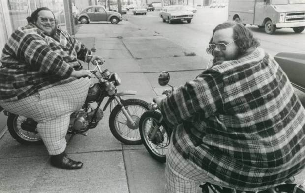 Undated handout photo issued by Guinness World Records of Billy Leon (1946-79) and Benny Loyd (1946-2001) McCrary, who are the heaviest twins ever, as the Guinness World Records celebrates its 60th anniversary. PRESS ASSOCIATION Photo. Issue date: Thursday August 27, 2015. 60 years on, over 134 million copies have been sold in 21 languages, in more than 100 countries. See PA story SOCIAL Guinness. Photo credit should read: Guinness World Records/PA Wire NOTE TO EDITORS: This handout photo may only be used in for editorial reporting purposes for the contemporaneous illustration of events, things or the people in the image or facts mentioned in the caption. Reuse of the picture may require further permission from the copyright holder.