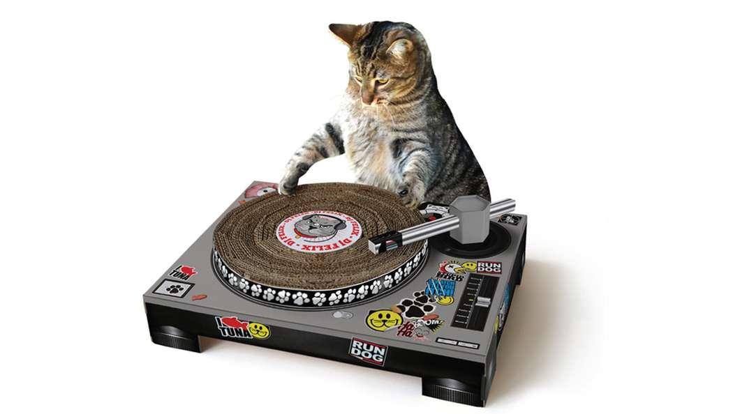 DJ Mischpult Gadgets für Katzen Kratzpult