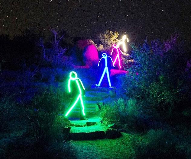 led strichmännchen-kostüm glowy zoey