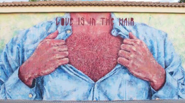 Love is in the hair Street Art
