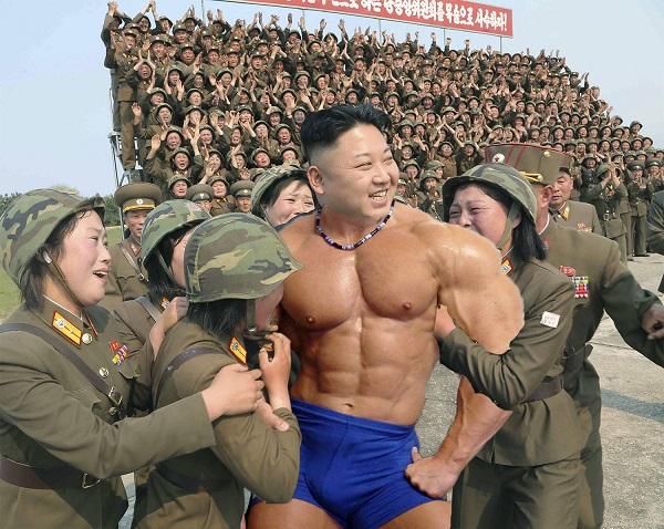 kim jong un photoshop-challenge bodybuilder