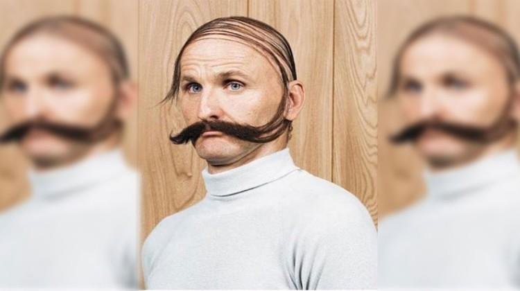 Überkäm-Frisur Glatze kaschieren lustig