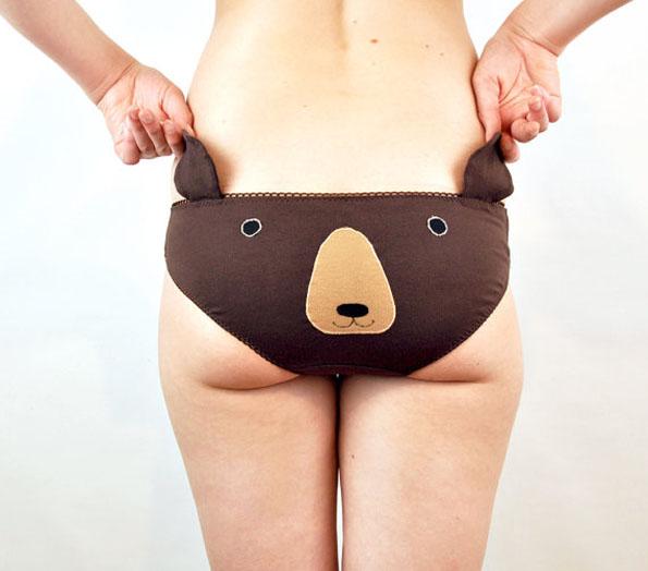 Etsy Knickerocker Unterhosen mit Tieren und Ohren Bär