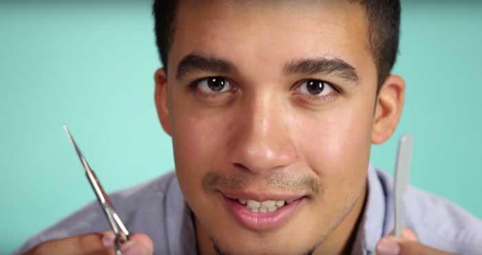 augenbrauen-pflege für männer buzzfeed video