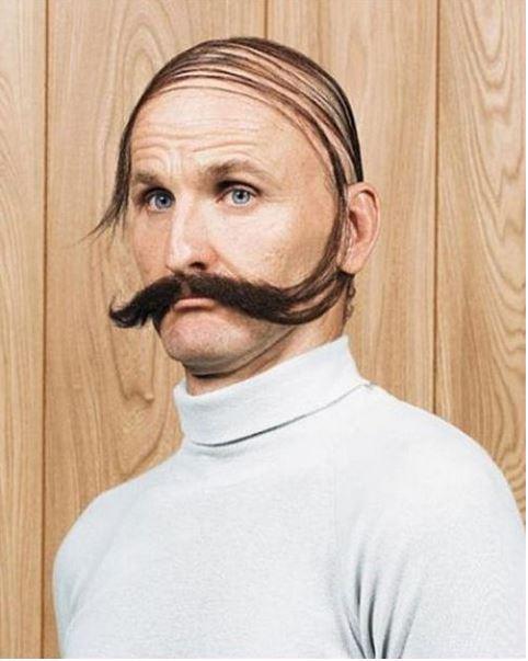 Frisur glatze