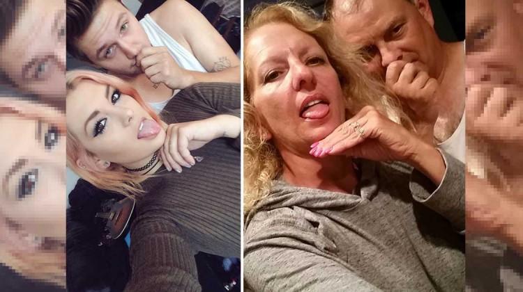 eltern machen selfies ihrer tochter nach
