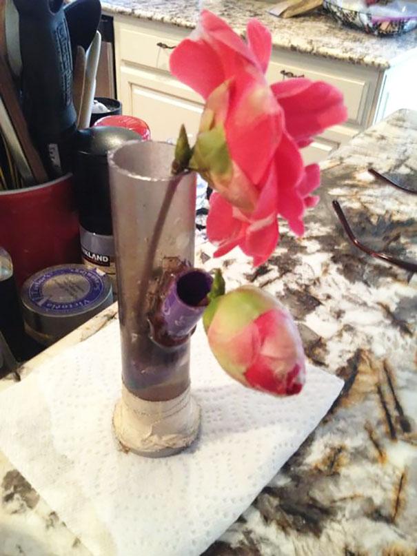 dinge, die man mit einer bong machen kann vase