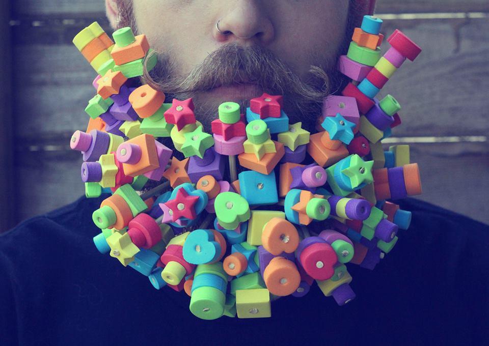 gay-beards-schaumgummi kunst mit vollbart