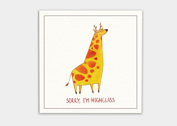 kaa illustrations karte für feinde giraffe