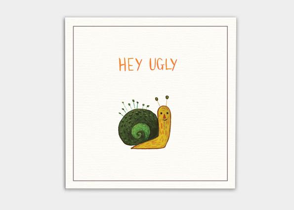 kaa illustrations unfreundliche postkarten schnecke