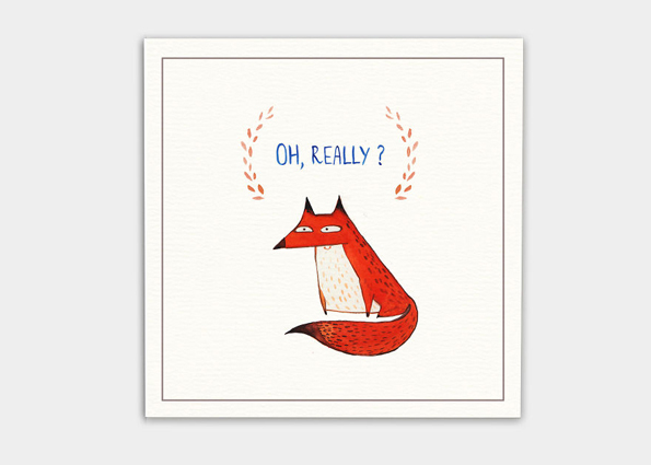 kaa illustrations unfreundliche postkarte fuchs arrogante sprüche