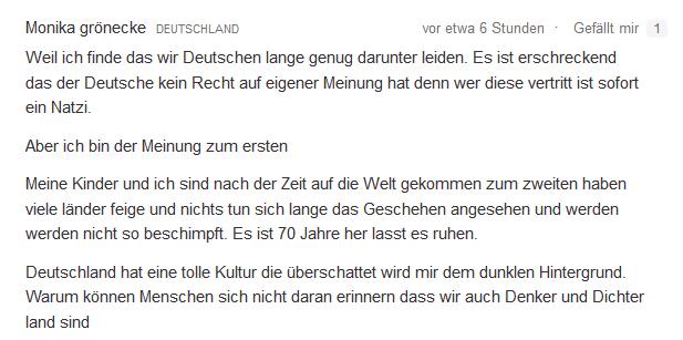 Beschimpfung von Deutschen denker