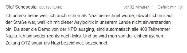 Beschimpfung von Deutschen asyl