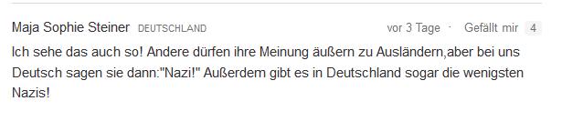 Beschimpfung von Deutschen idiot