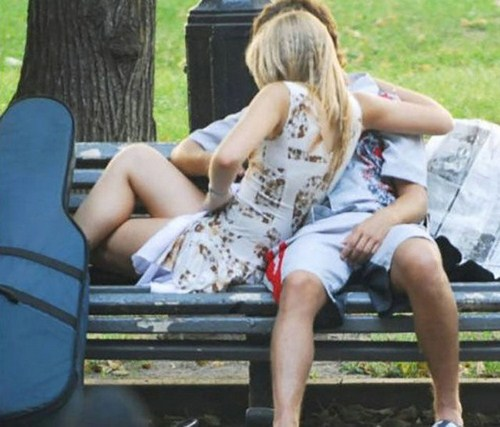 Paare in der Öffentlichkeit