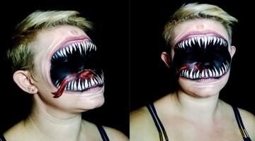 Erschreckende Gesichtsmalerei