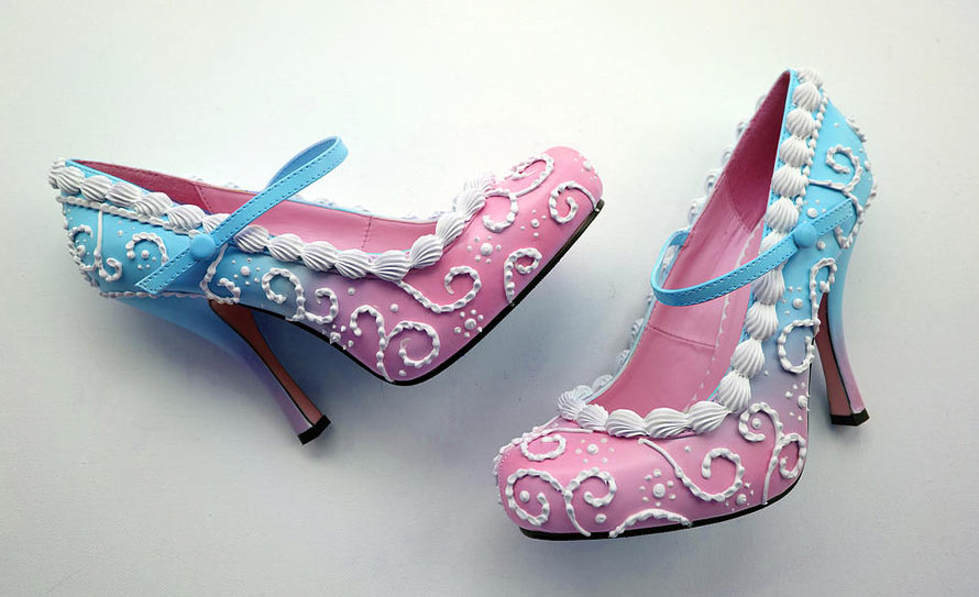 the shoe bakery pinup schuhe in torten-optik