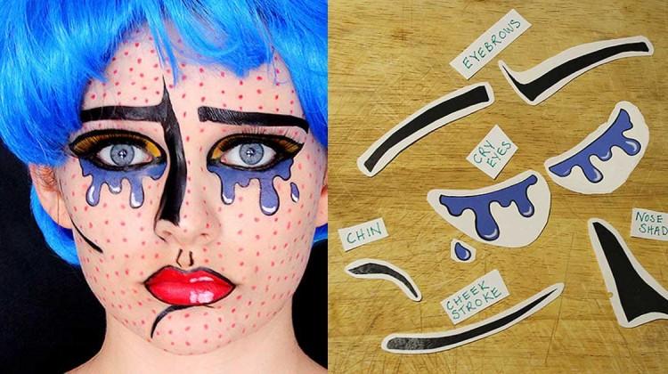 Makeup Tattoo Gesichtstattoo Halloween Schminke schnell und einfach