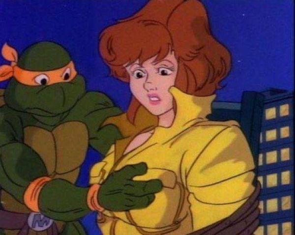 ungewollt perverse Cartoons Teena Mutant Ninja Turtles Boobs
