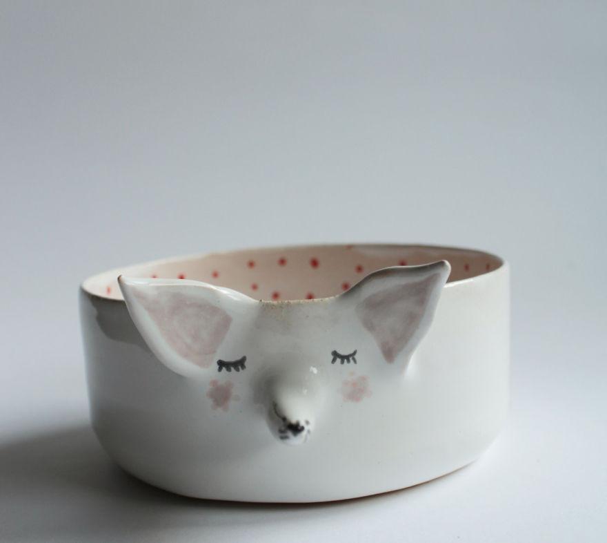 Marta Turowska Clay Opera Tiertassen aus Keramik