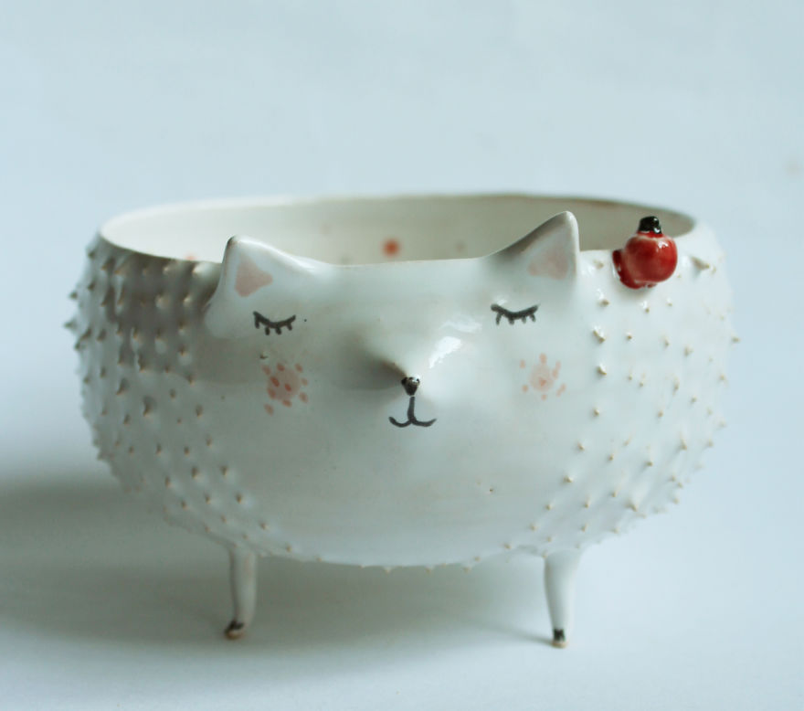 Marta Turowska Clay Opera Tierschüsseln aus Keramik