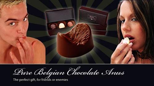 Anuspraline verschenken Geschenkidee Schokolade