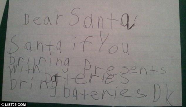 wunschlisten an den weihnachtsmann lustig