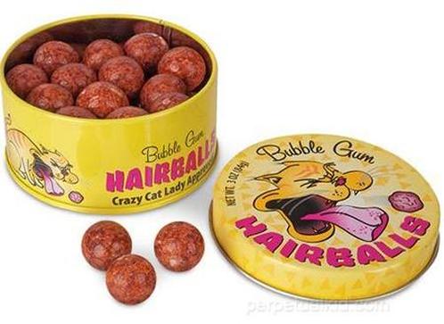 Haarball Kaugummi kuriose Süßigkeiten
