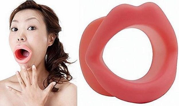 seltsame Kosmetikprodukte Training für Gesichtsmuskeln