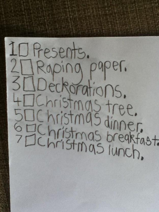 wunschliste weihnachten kinder lustig