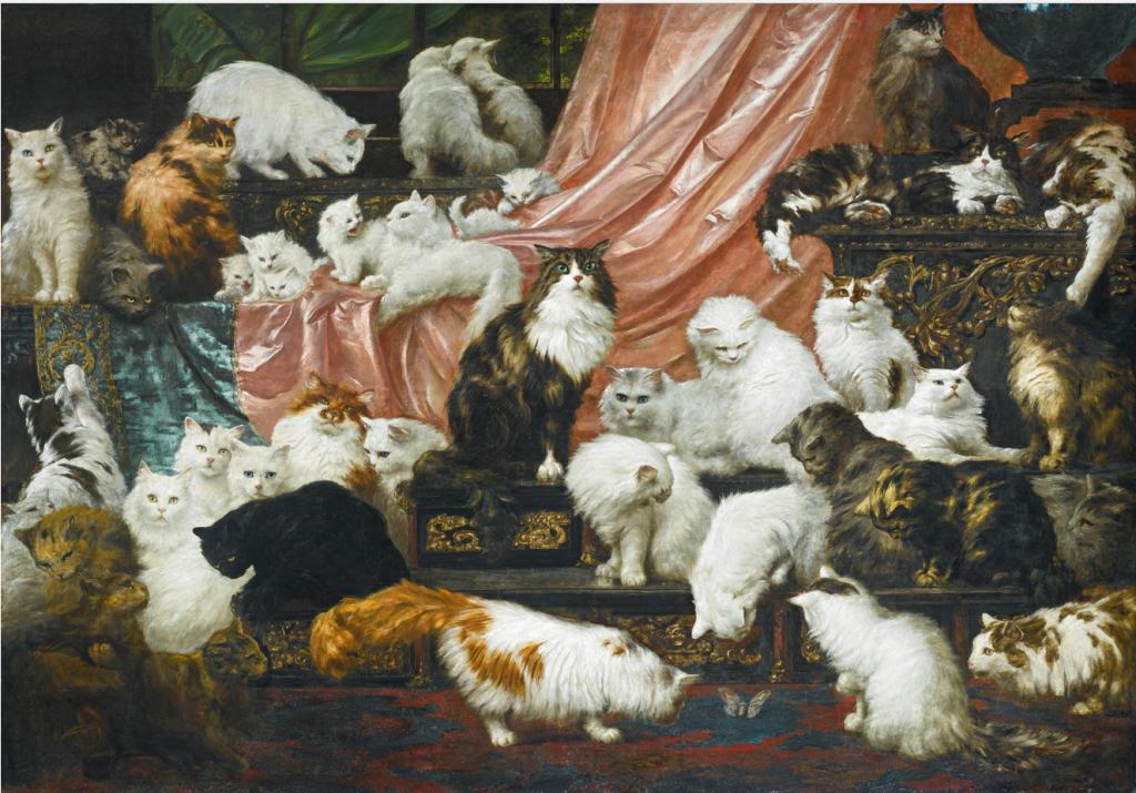 größtes katzengemälde 42 katzen zoom