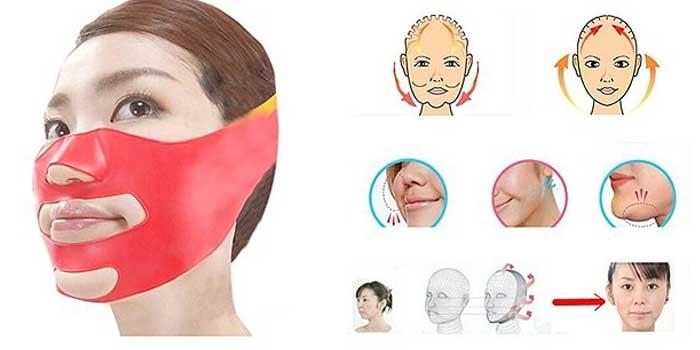kosmetikprodukte gesichtsmaske gesicht verschmälern