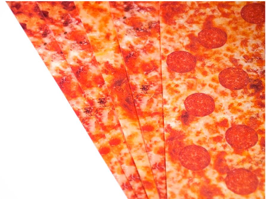 geschenkpapier mit pizza kickstarter Pizza-Geschenkpapier
