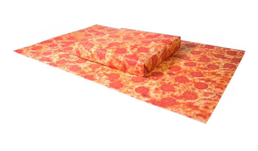 kickstarter pizza-geschenkpapier