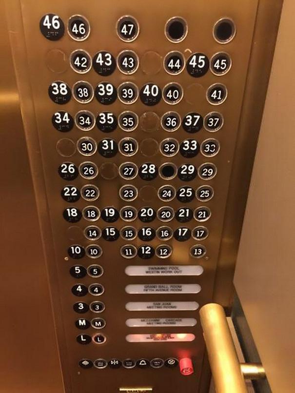 konstruktionsfehler fahrstuhl knöpfe