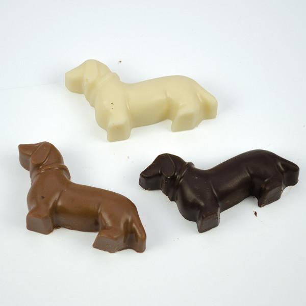hundeschokolade pralinen in dackelform geschenke für tierfreunde