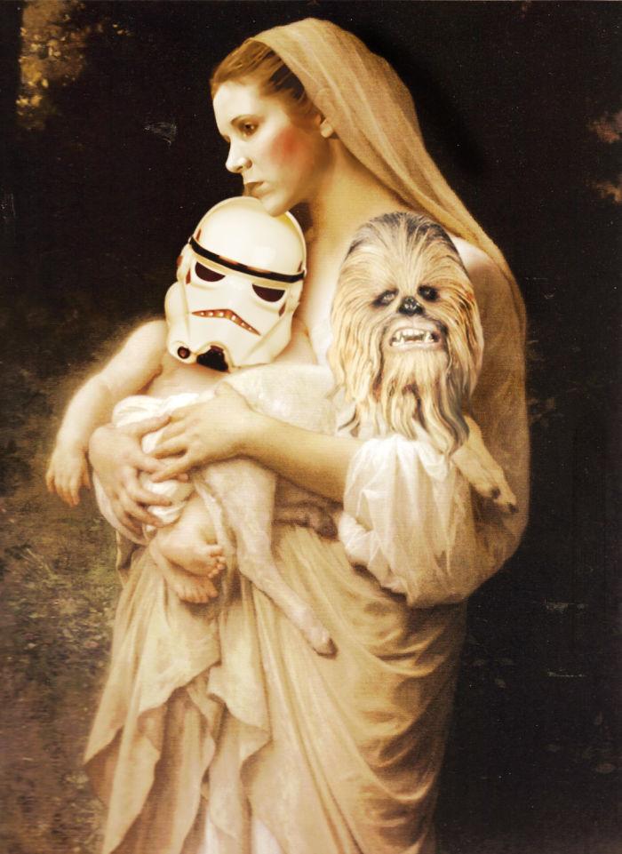 Princess Leia mit Chewbacca und Stormtrooper Baby Renaissance