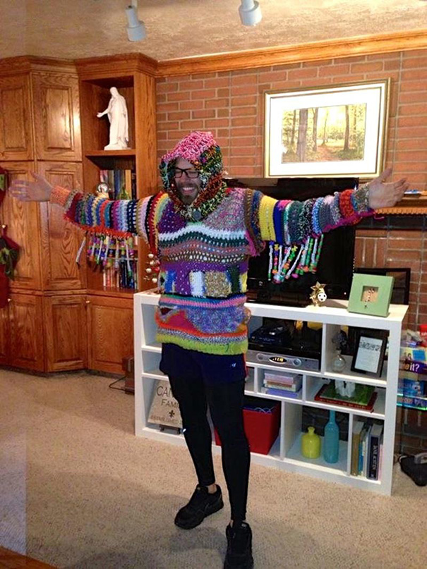 Teppich als Pullover