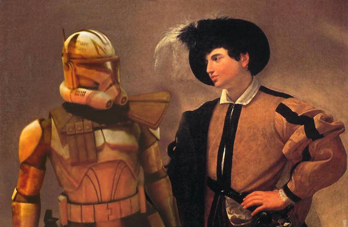Caravaggio mit Star Wars