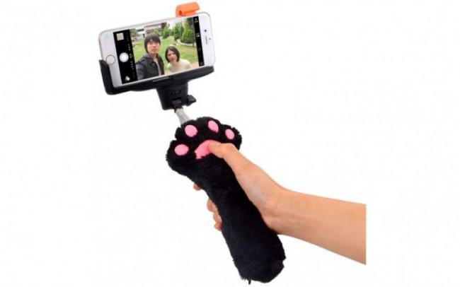 Selfie-Stick Katzenpfote Thanko Gadgets für Katzenliebhaber