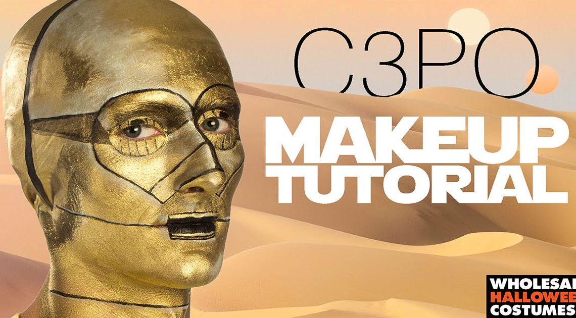 Das C3PO Makeup Tutorial