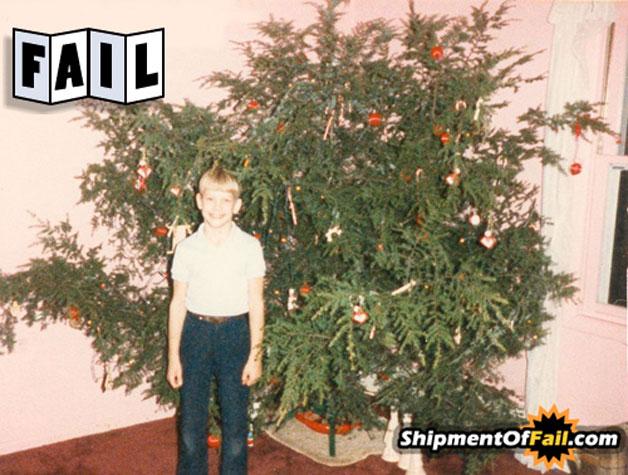 trauriger Weihnachtsbaum Fail