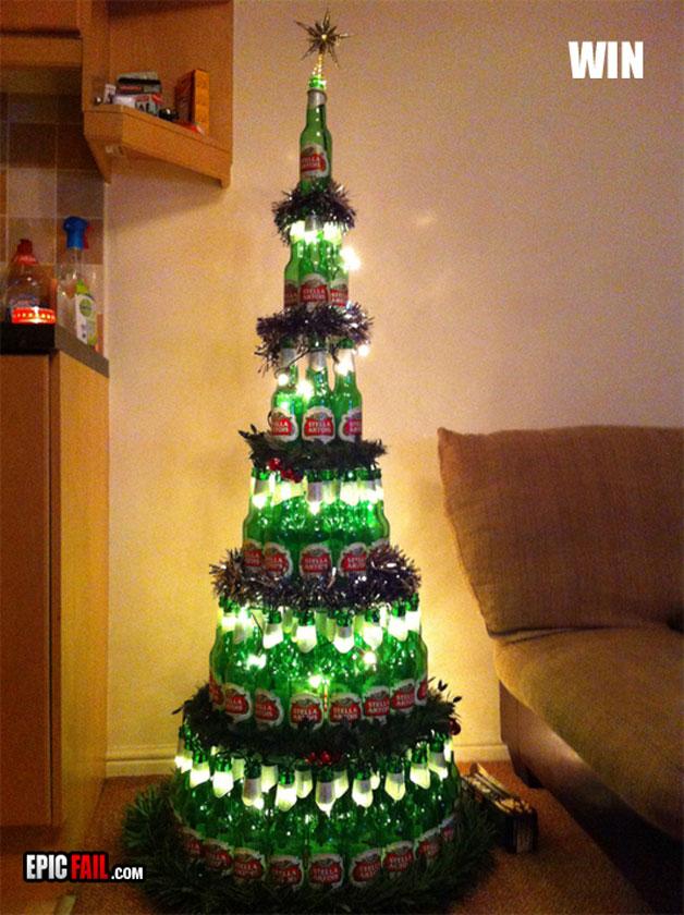 etwas andere Weihnachtsbäume Bierbaum