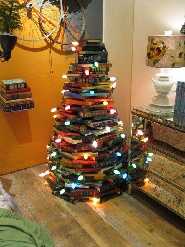 Baum aus Büchern andere Weihnachtsbäume