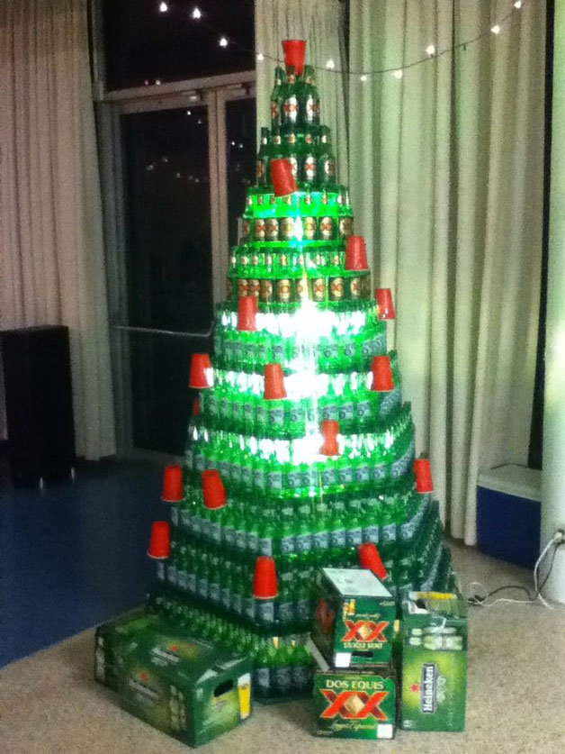 Ideen für Weihnachtsbäume Bier
