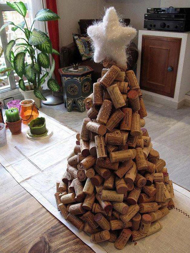 Weihnachtsbaum mal anders Weihnachtsbaum aus Weinkorken